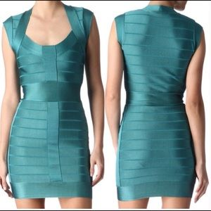 FRENCH CONNECTION green body con bandage dress